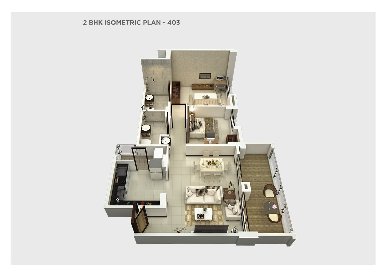 2 bhk isometric  – 403