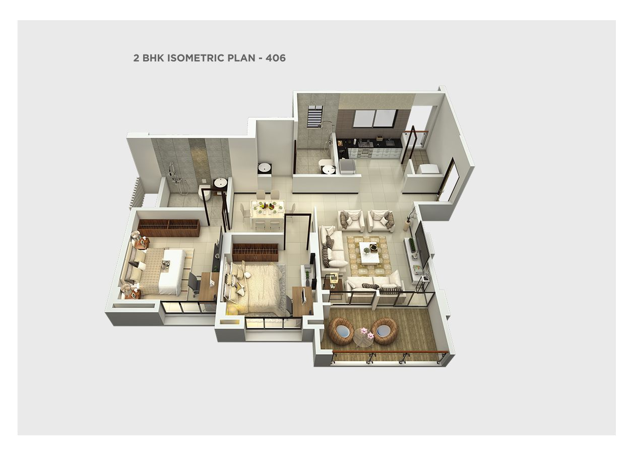 2 bhk isometric – 406